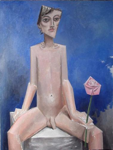Boy with a rose / Oil on canvas, 40″ x 30″ (2005)