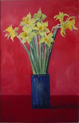Daffodils / Gouache on paper, 22″ x 13½″ (2002)