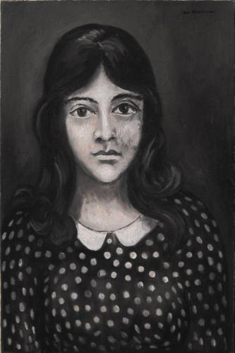 Girl in a spotted dress / Oil on canvas, 24″ x 16″ (1967)