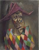 Harlequin / Oil on canvas, 36″ x 28″ (1994)