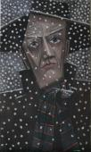 Man in a snow-storm / Oil on canvas, 20″ x 12″ (c. 2003)