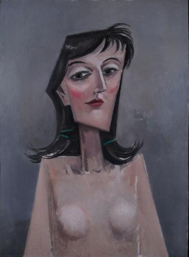 Nude girl, head and shoulders / Oil on plywood, 24″ x 18″ (c. 2006)