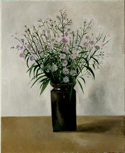 Purple asters / Oil on canvas, 24″ x 20″ (1997)