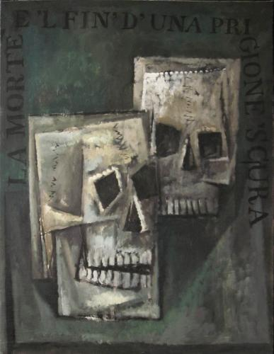 Two skulls / Oil on canvas, 30″ x 23″ (c. 1980-85)